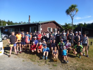 The Class of 2012 - happy trail runners about to board the bus for the first day's run.