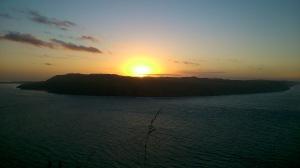 New Year sunrise from the Omanawanui Track