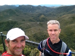 With Steve on the summit of The Pinnacles