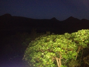 The Pouakai Range emerge out of the night