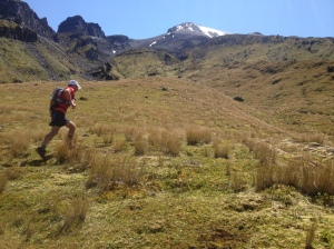 Mountain running at its best - high on the southern flanks of the mountain